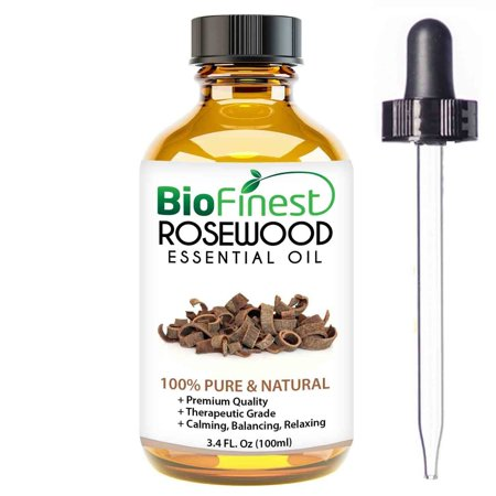 Biofinest Rosewood Essential Oil - 100% Pure Organic Therapeutic Grade - Best for Aromatherapy, Mood Relaxing, Ease Stress Anxiety Nausea Cold Muscle Ache Arthritis - FREE E-Book & Dropper (Best Muscle Relaxing Essential Oils)