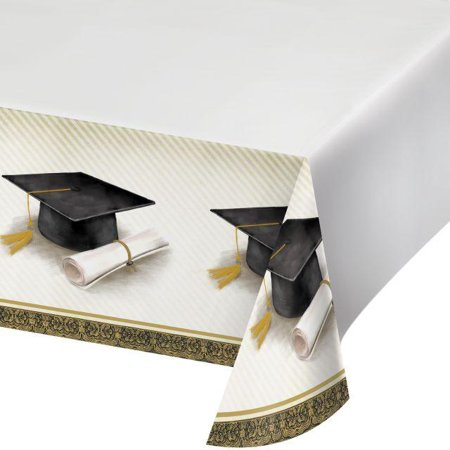 Creative Converting Classic Graduation Plastic Tablecover, 54
