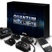 OPT7 Quantum RGBW Rock Lights 4pc Multicolor LED Pods for Trucks, Jeeps, ATV Offroad Crawling Climbing - Neon Underglow Lighting - SoundSync, App & Remote Controls, IP68 - 2 Year Warranty