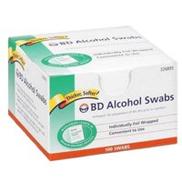 Alcohol Prep Pad BD Isopropyl Alcohol,  70% Individual Packet 1 X 3/4 Inch NonSterile 2 Boxes of 100 (200 Count)