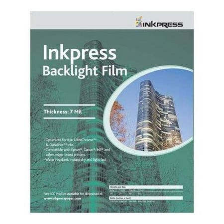 Backlight Translucent White Semi-matte Inkjet Film, 7 mil, 8.5x11