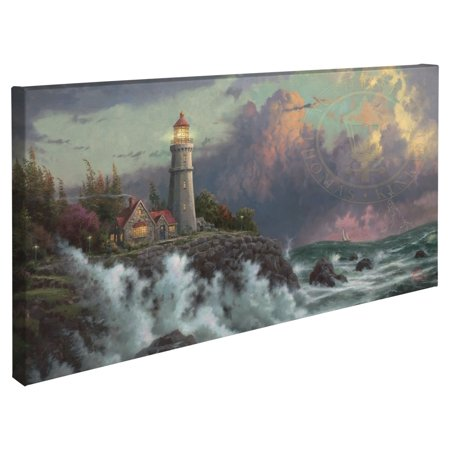 "Thomas Kinkade Conquering the Storms ? 16"" x 31"" Gallery Wrapped Canvas"