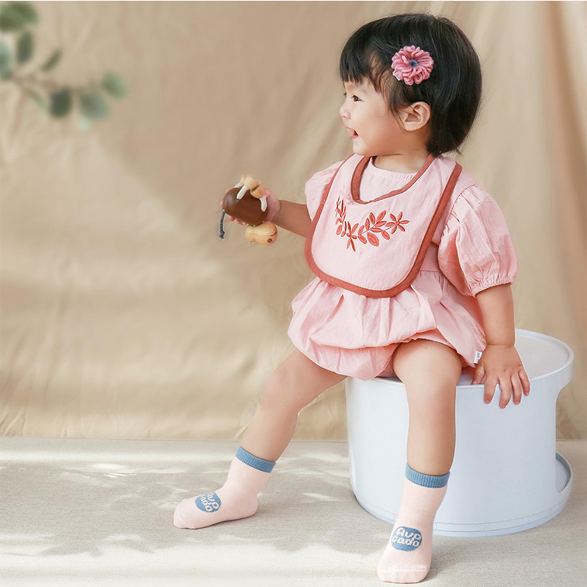 6Pair Anti-slip Baby Socks Boys Girls Kids Grey Cotton Ankle Sock Size 0-5 Years