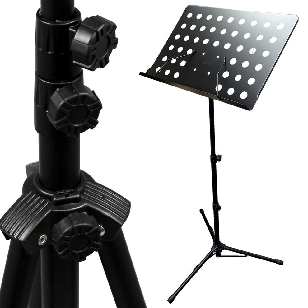 Adjustable Folding SHeet Music Stand Score Holder Mount Tripod Heavy Duty Construction and... by LESHP