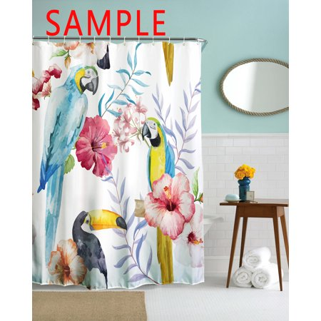 GCKG Vintage Red Poppy Flower Bathroom Shower Curtain, Shower Rings Included Polyester Waterproof Shower Curtain 36x72 Inches - image 1 de 4