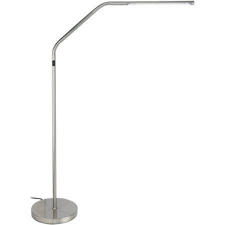Slimline LED S Task Floor Lamp, Brushed Chrome - Walmart.com