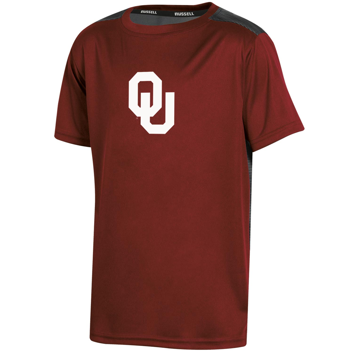Youth Russell Crimson Oklahoma Sooners Color Block T-Shirt