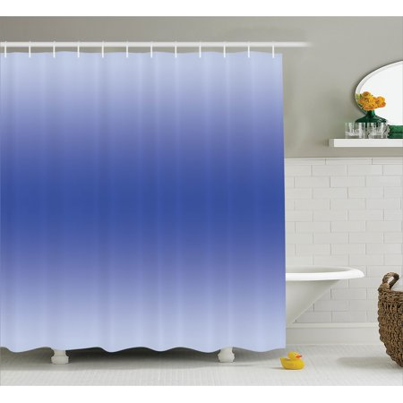 Ombre Shower Curtain Clear Skies On A Summer Day Inspired Themed Sky Blue Colored Modern