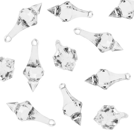 Acrylic Clear Ice Rock Diamond Chandelier Drops Crystals Treasure Gems for Table Scatters, Event, Wedding, Arts & Crafts, Birthday, Hanging Decoration Favor (112 Pieces) by Super Z Outlet