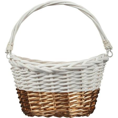 White gold willow easter basket walmart white gold willow easter basket negle Choice Image