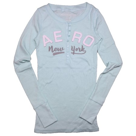 Aeropostale Womens Long Sleeve Henley Shirt (Aeropostale Workout Clothes)