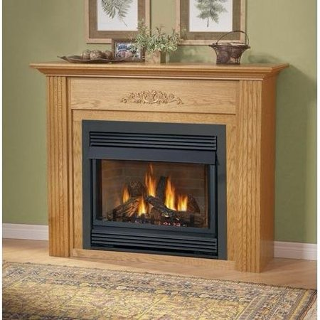 Napoleon GVF36-2N 30 000 BTU Vent Free Natural Gas Fireplace With Safety Pull Screen Realistic PHAZER Logs Oxygen Depletion Sensor & 99.9% Steady State High Napoleon Torch Gas Fireplace