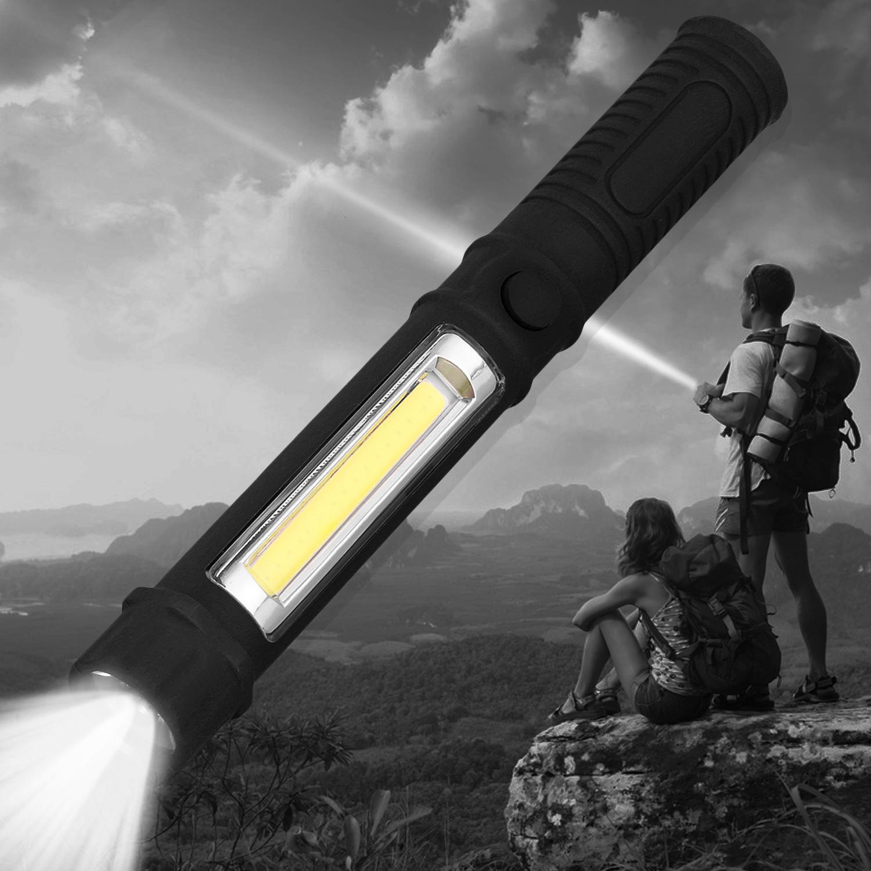 Portable COB LED Flashlights – Powerful 400 Lumen with Magnetic Base Flood Light 165 FT Range,7 Working Hours