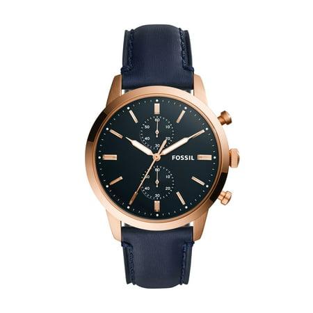 Fossil Blue Dial Watch - Fossil Men's Townsman