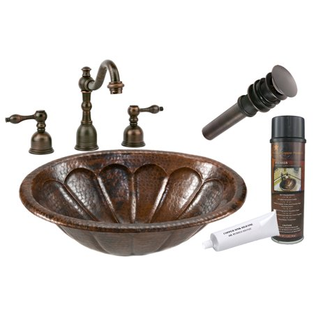 Premier Copper Products - BSP2_LO19RSBDB Bathroom Sink, Faucet and Accessories Package