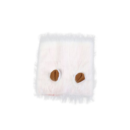 Cute Lion Wig Funny Cat Dog Costume Adorable Pet Turned Wig Headgear (White) (Cute And Funny Girl Halloween Costumes)