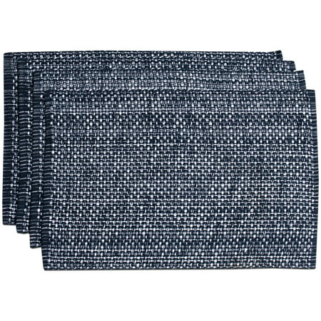 Woven Placemats (Lintex Trends Collection Two Tone Woven Placemat 100% Cotton 10