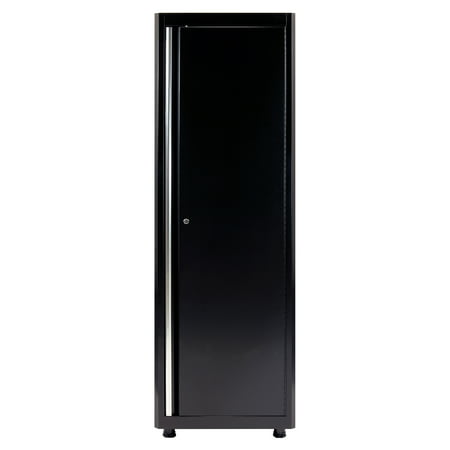72 in. H x 24 in. W x 18 in. D Welded Steel Floor Cabinet in Black