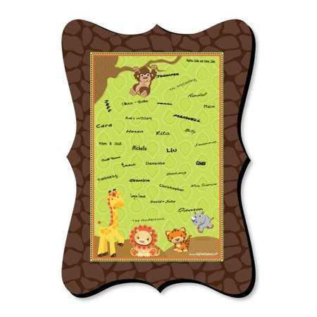 Baby Shower Return Gifts For Guests (Funfari - Fun Safari Jungle - Unique Alternative Guest Book - Baby Shower or Birthday Party Signature)