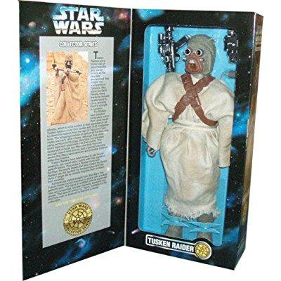 kenner year 1996 star wars 12 inch tall fully poseable figure with authentically styled outfit and accessories - tusken raider with blaster rifle, bandolier and binocular ()