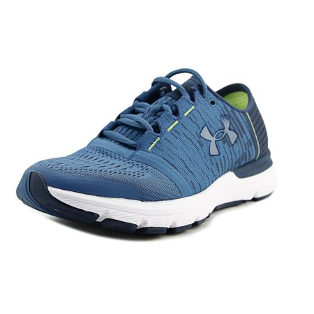 size 40 98f7e 9731a Under Armour Speedform Gemini 3 GR Women Round Toe Canvas Blue Running Shoe