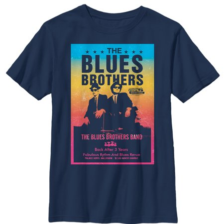 Blues Clues Apparel - the blues brothers boys' retro band poster t-shirt