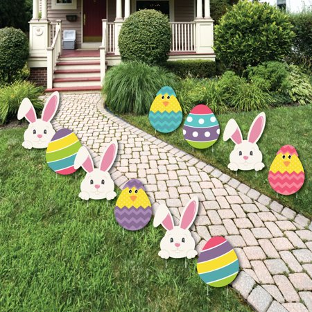 Easter Egg Decorations (Hippity Hoppity - Easter Bunny & Egg Yard Decorations - Outdoor Easter Lawn Decorations - 10)