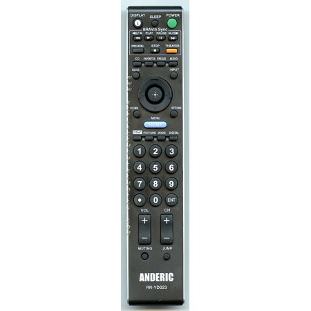 Substitute for SONY RMYD029 (p/n: 148720011) TV Remote Control: ANDERIC RRYD023 Sony (p/n: RRYD023) - 15a Remote