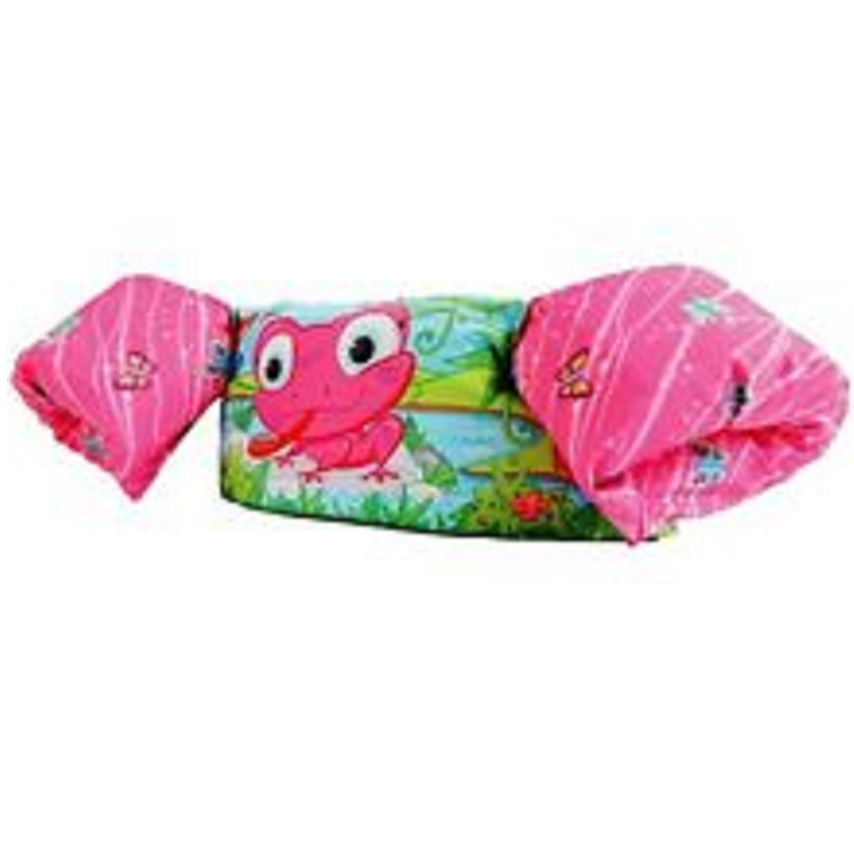 Stearns Puddle Jumper Deluxe Life Jacket Pink Frog
