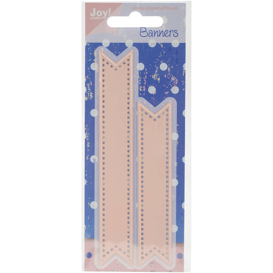 """Joy! Crafts Cut & Emboss Die, Banners, .75"""" x 5"""" and .75"""" x 3.875"""""""