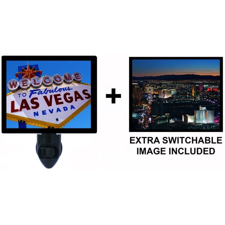Night Light - Switchable Photos Included - Las Vegas -  Strip - Welcome to Las Vegas