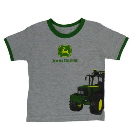 John deere infant boys gray t shirt short sleeve tractor for John deere shirts for kids