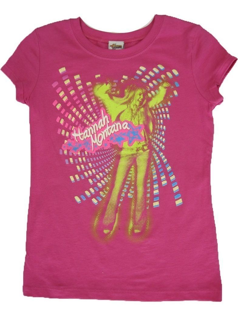 Girls Fuchsia Hannah Montana Disco Printed T-Shirt 7-16