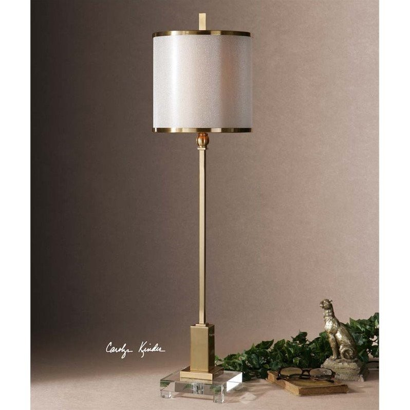 Enjoyable Uttermost Villena Brass Buffet Lamp Home Interior And Landscaping Elinuenasavecom