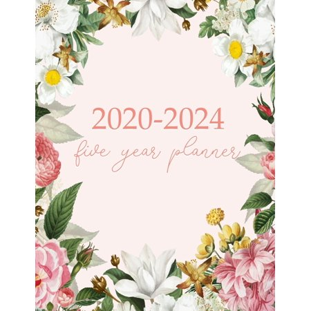 2020-2024 Five Year Planner : Monthly Logbook and Journal, 60 Months