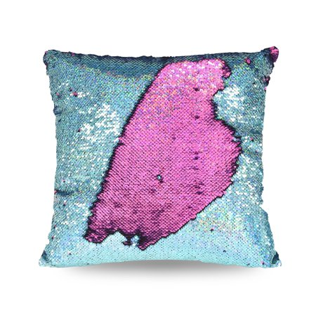 "Mainstays Holographic Reversible Sequins Sparkle Pillow, 17"" x 17"""