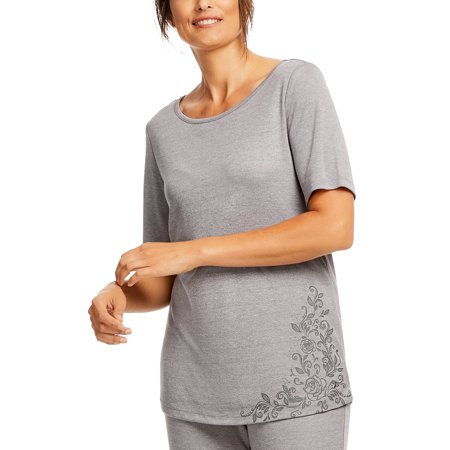 Gloria Vanderbilt Women's and Women's Plus Laura B Short Sleeve Sleep