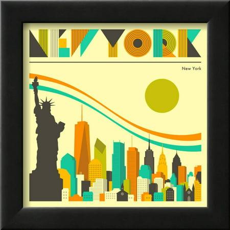 New York Skyline Framed Print Wall Art By Jazzberry Blue - Walmart.com