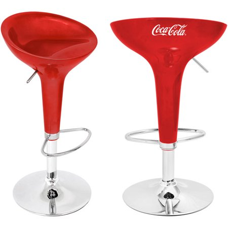 Lumisource Coca Cola Scooper Bar Stool In Red And White