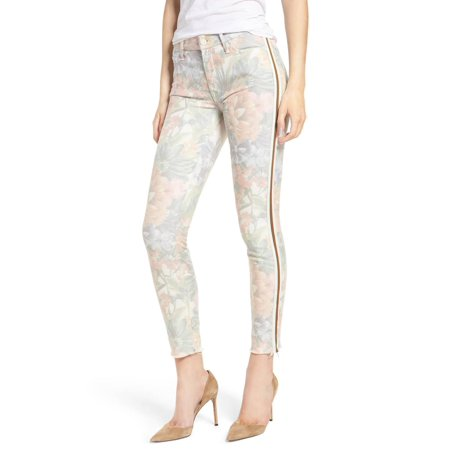 Mother Womens Floral-Print Skinny Stretch Jeans