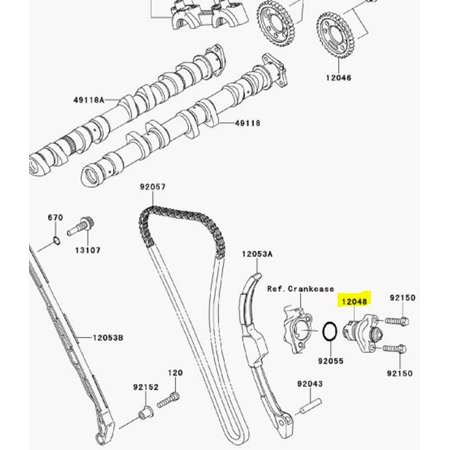 Kawasaki OEM Cam Chain Tensioner Assembly 12048-0059 ZX10R Ninja -