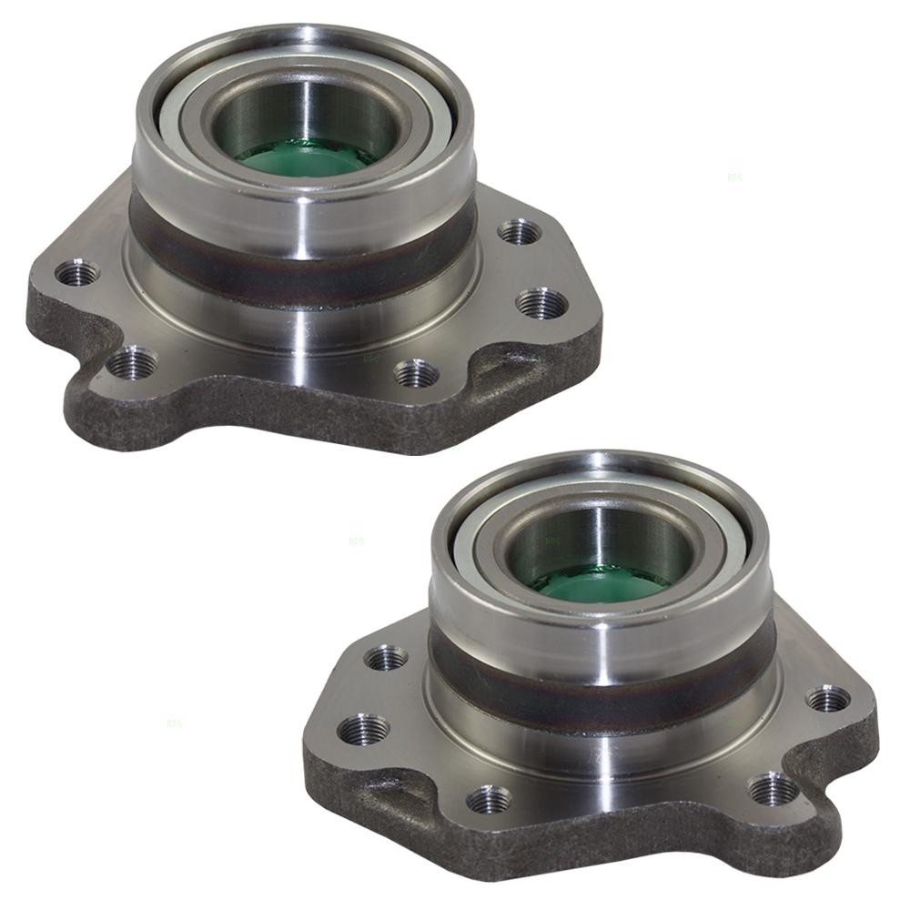 Pair Set Rear Wheel Hub Bearings Replacement for Honda CR-V 42201-S10-A01 42200-S10-A01
