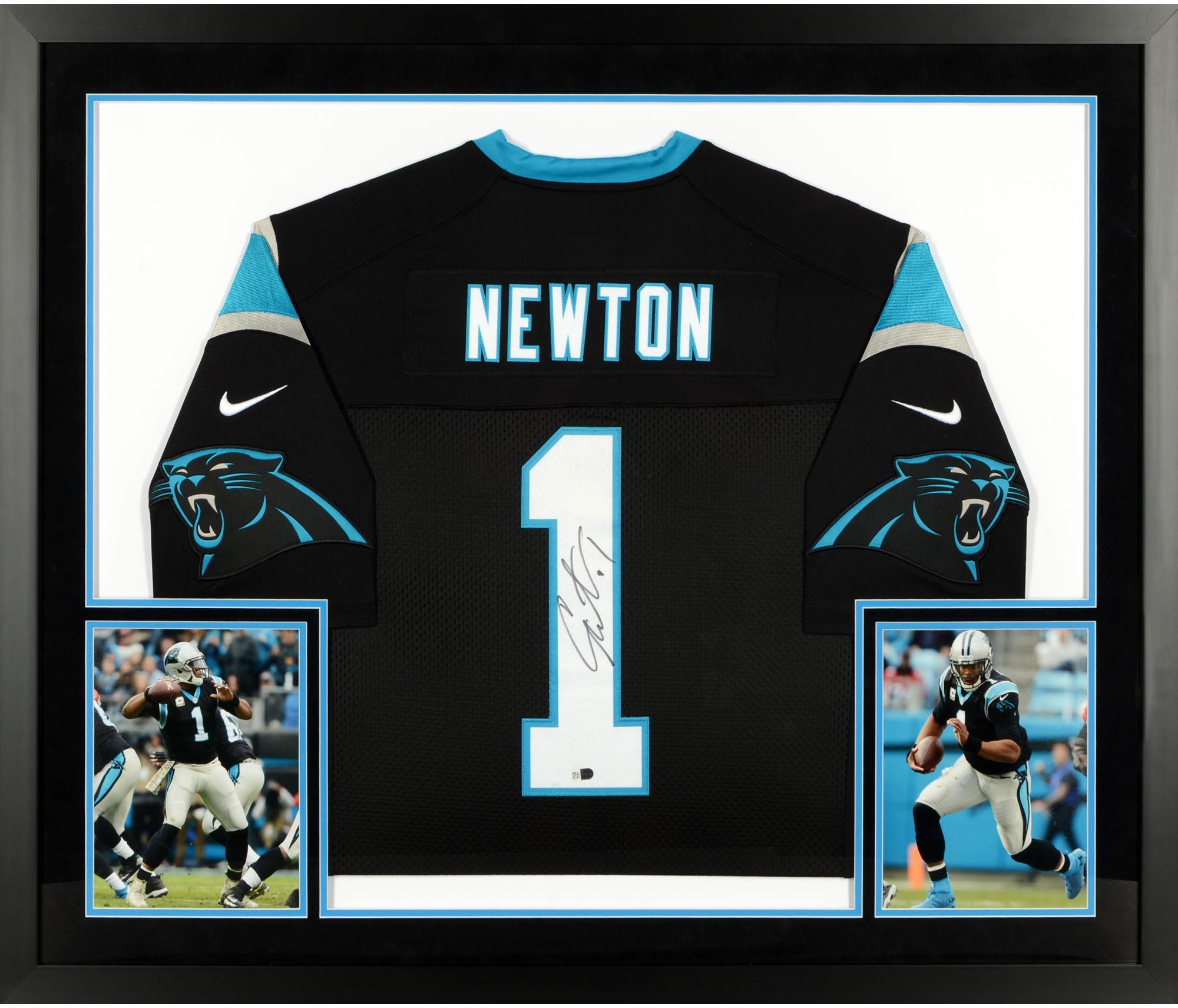 pretty nice d8d08 7c085 Cam Newton Carolina Panthers SM Deluxe Framed Autographed Limited Black  Jersey - Fanatics Authentic Certified