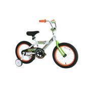TITAN Champion 16-Inch Boys BMX Bicycle with Training Wheels, White