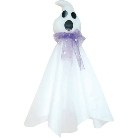Hanging Ghost with Purple Tie Halloween Decoration