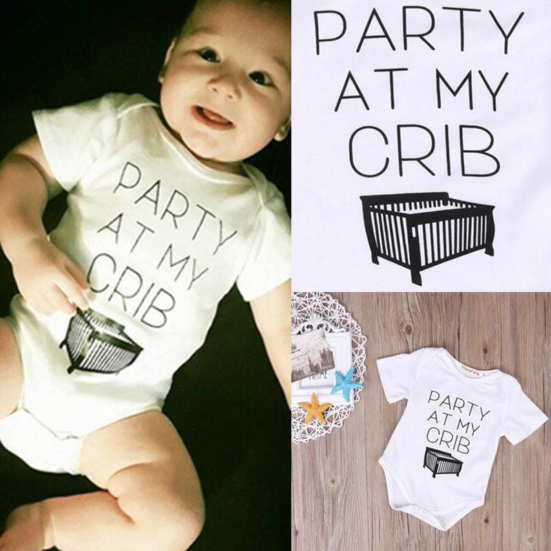 Cotton Newborn Baby Girl Boy Clothes Bodysuit Romper Jumpsuit Playsuit Outfits