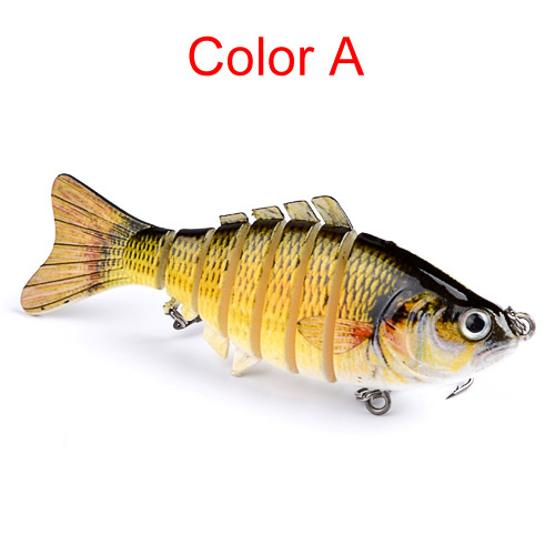 Multi Jointed Life-like Swimming Fishing Lure, Artificial Hard Swimbait Lure with Fishing Hook Color:A by