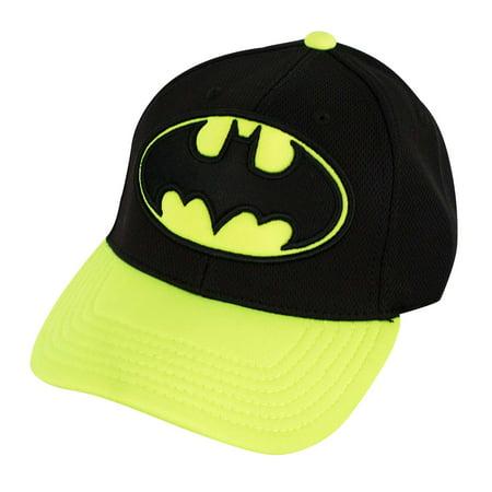Batman Curved Bill Neon Yellow Hat](Neon Hats)