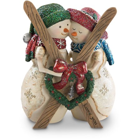 The Birchhearts - Love You 4.5 Inch Double Snowman Figurine Winter Christmas Decor