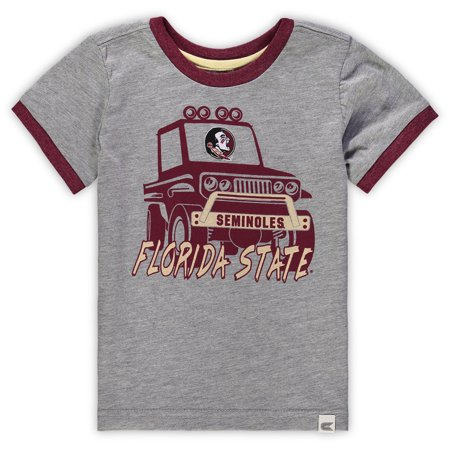 Florida State Seminoles Colosseum Toddler Mud Flap Ringer T-Shirt - Heathered Gray
